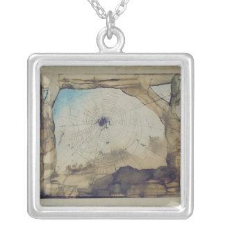 Vianden through a Spider's Web Silver Plated Necklace