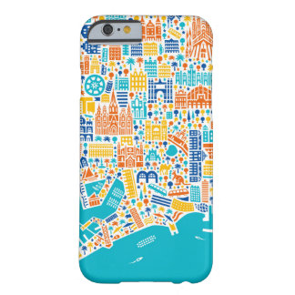 Vianina Barcelona town center map Barely There iPhone 6 Case
