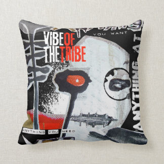vibe of the tribe throw cushion
