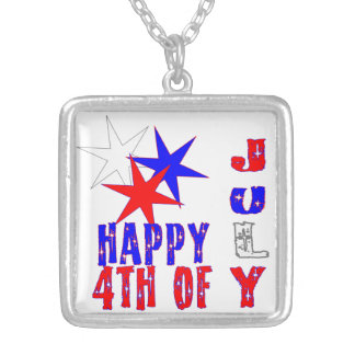 Vibrant 4th of July necklace