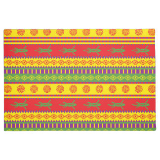 Vibrant abstract Aztec pattern Doormat