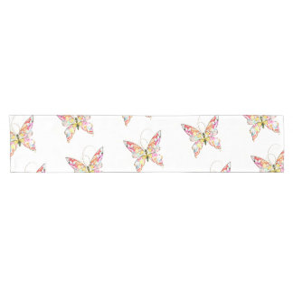 Vibrant Abstract Butterflies on a Table Runner
