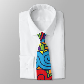 Vibrant Abstract Paisley Pattern Tie