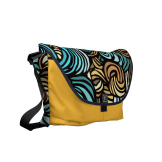 Vibrant Abstract pattern Commuter Bag