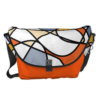 Vibrant abstract pattern courier bag