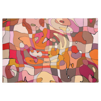 Vibrant abstract pattern doormat