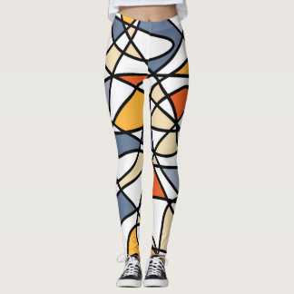 Vibrant abstract pattern leggings