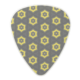 Vibrant abstract pattern polycarbonate guitar pick