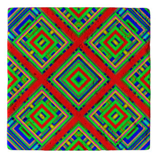 Vibrant abstract pattern trivets
