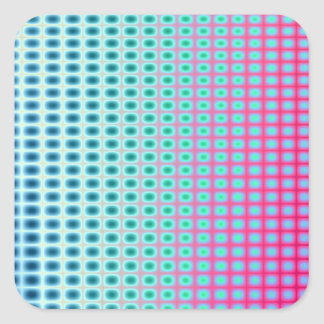 Vibrant Abstract Tiles Square Sticker