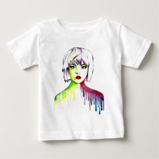 Vibrant and Colourful portrait art Baby T-Shirt