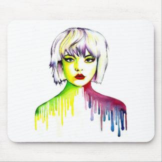 Vibrant and Colourful portrait art Mouse Mat
