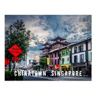 Vibrant and Colourful Singapore Chinatown Postcard