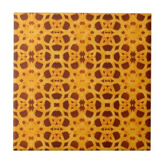 Vibrant Arabesque Background Pattern Small Square Tile