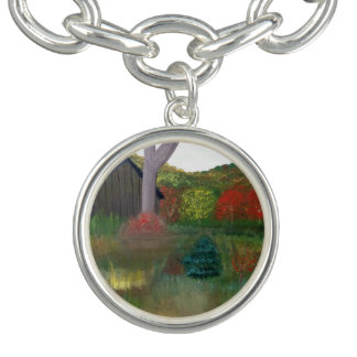 Vibrant Autumn Charm Bracelet