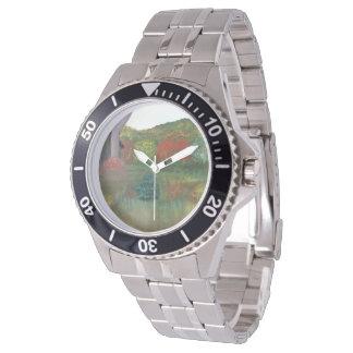 Vibrant Autumn Custom Steel Watch