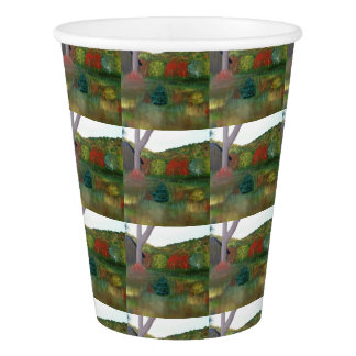 Vibrant Autumn Paper Cups