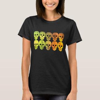Vibrant Autumn skull pattern T-Shirt