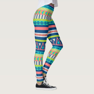 Vibrant Aztec Pattern Leggings