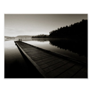 vibrant black and white landscape photo poster