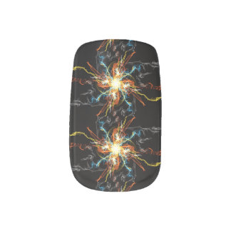 Vibrant Black Print Minx Wrap Nail Art