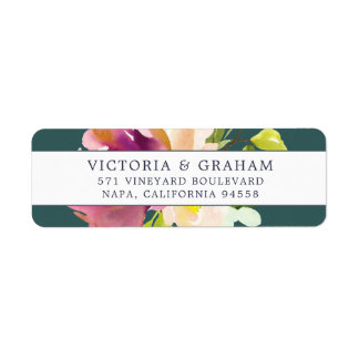 Vibrant Bloom | Floral Return Address
