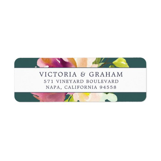 Vibrant Bloom | Floral Return Address Return Address Label