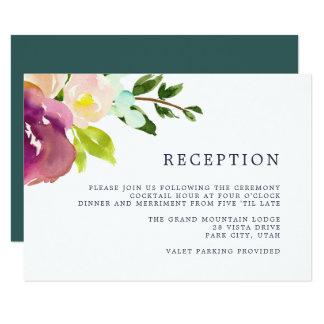 Vibrant Bloom Reception Card