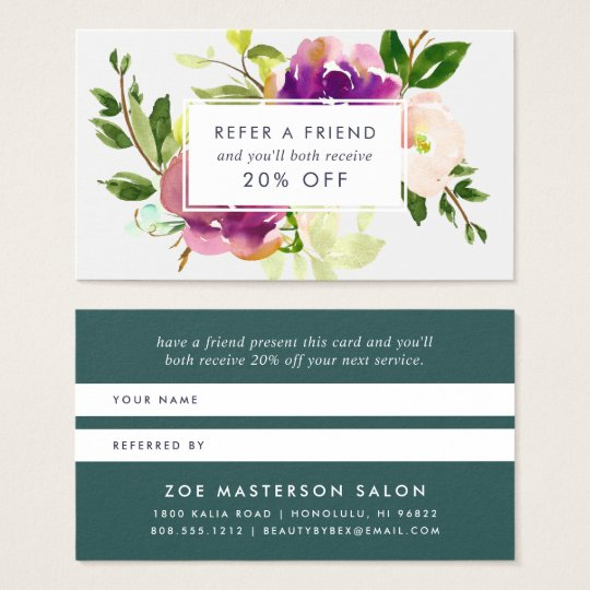 Vibrant Bloom | Referral Business Card