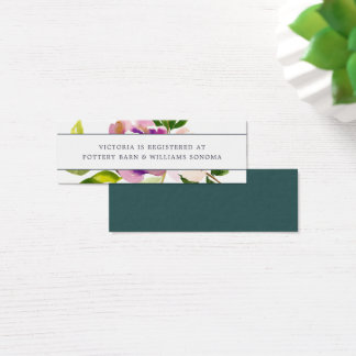 Vibrant Bloom Registry Insert Cards