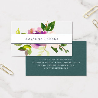 Vibrant Bloom | Watercolor Floral Business Card