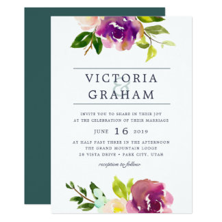 Vibrant Bloom | Watercolor Wedding Invitation