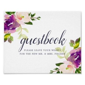Vibrant Bloom Wedding Guestbook Sign