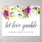 Vibrant Bloom Wedding Sparker Sendoff Sign
