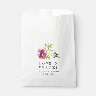 Vibrant Bloom Wedding Thank You Favour Bags