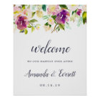 Vibrant Bloom Wedding Welcome Poster
