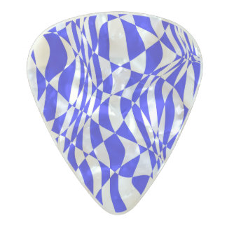Vibrant blue abstract pattern pearl celluloid guitar pick