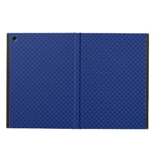 Vibrant Blue Carbon Fiber Like Print Background Case For iPad Air