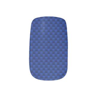 Vibrant Blue Carbon Fiber Like Print Background Minx Nail Art