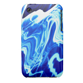 Vibrant blue iPhone 3 cover