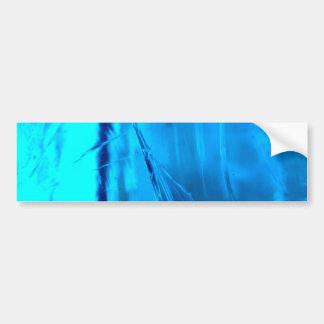 Vibrant Blue Crystal Geode Stone Print Bumper Sticker