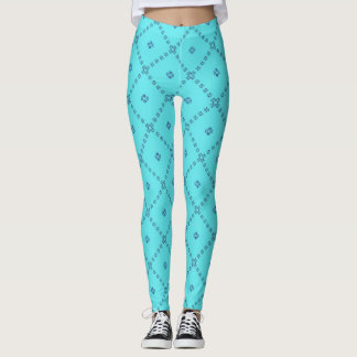 Vibrant Blue Sky Leggings