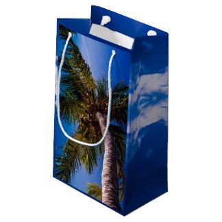 Vibrant Blue Sky Tropical Palm Tree Gift Bag