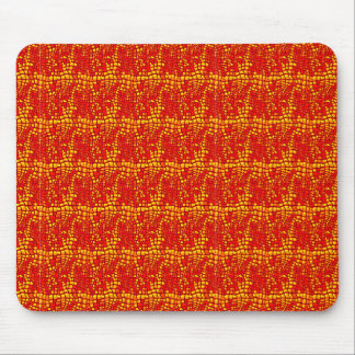 Vibrant Bold Red FAUX Snake Skin Mouse Pad