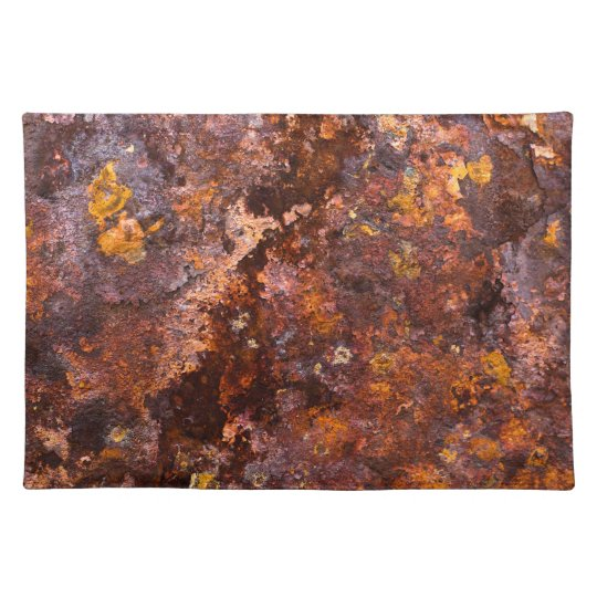 Vibrant Brown Rustic Iron Texture Place Mats