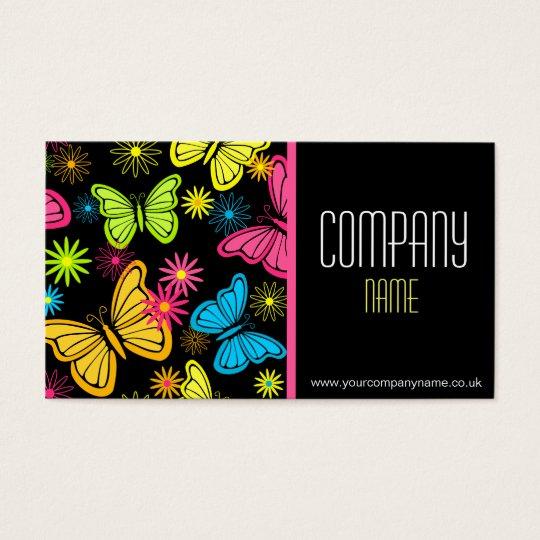 Vibrant Butterflies Business Card