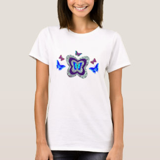 Vibrant Butterflies Tee For Women