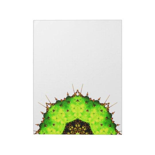 VIbrant Cactus Mandala Notepad