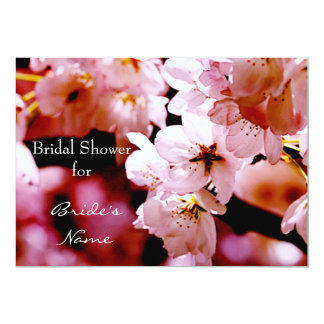 Vibrant cherry blossom bridal shower 13 cm x 18 cm invitation card