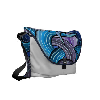 Vibrant color abstract courier bag